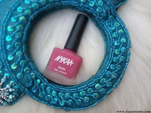 Nykaa Matte Nail Paints Strawberry shortcake (Shade No.139) Review