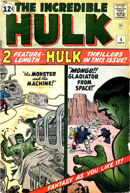 Incredible Hulk v1 #4 marvel comic book cover art by Jack Kirby