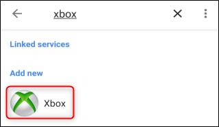 """حدد """"Xbox""""."""