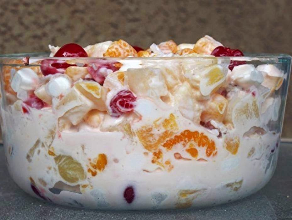 fruit custard ambrosia fruit salad