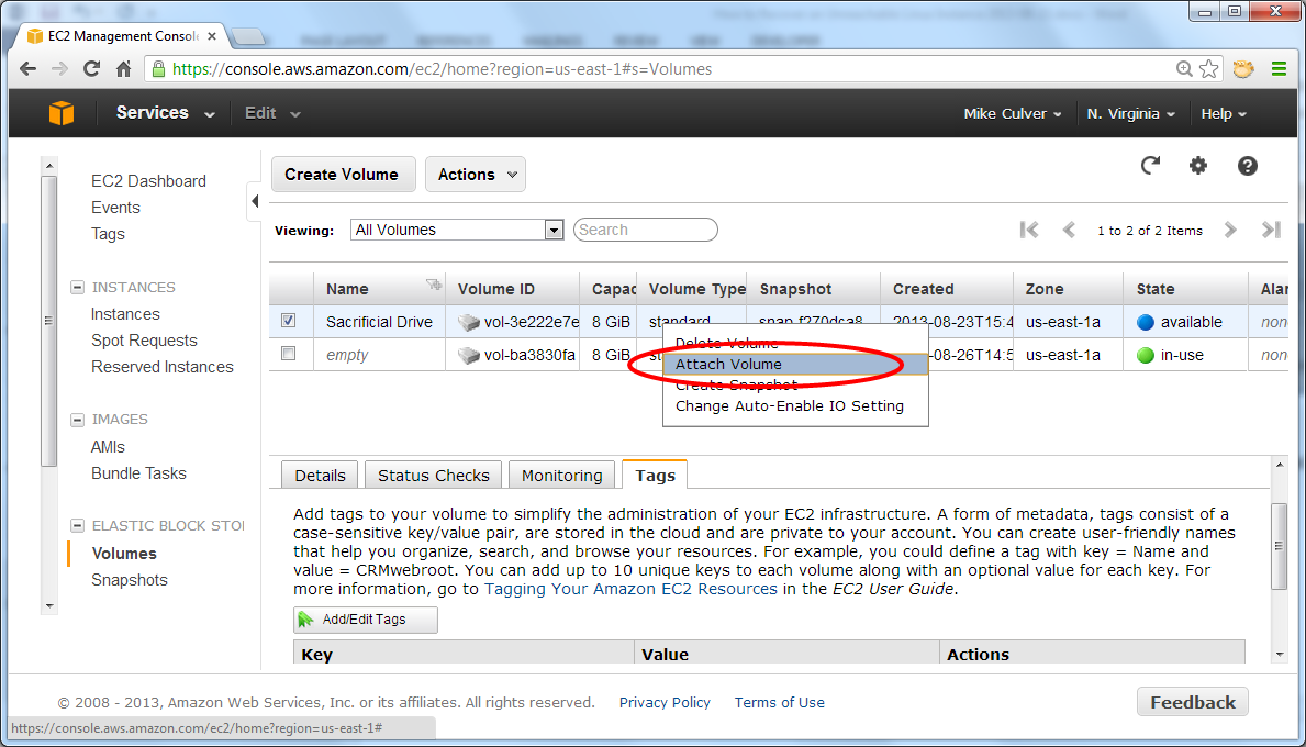 Recovering network access to EC2 instances