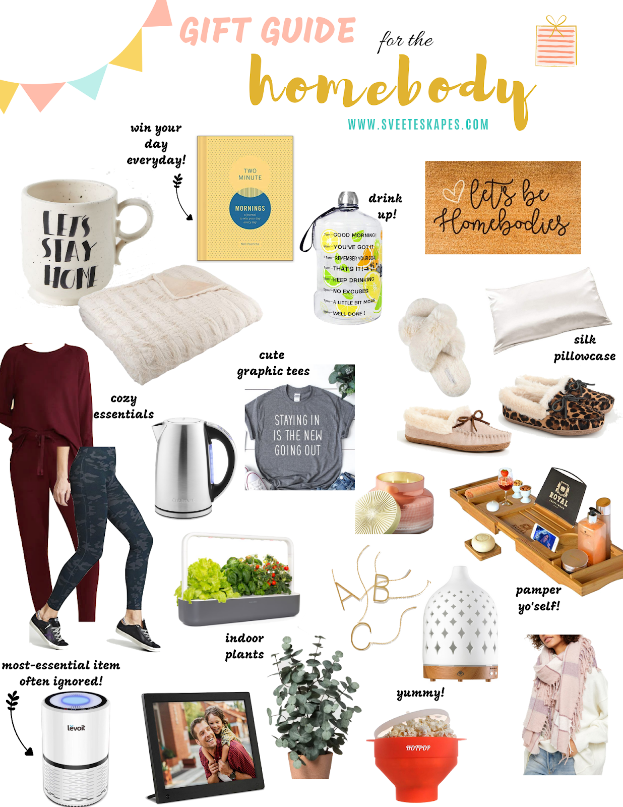 Unique Gift Ideas for Homebodies featured by top US life and style blog, Sveeteskapes