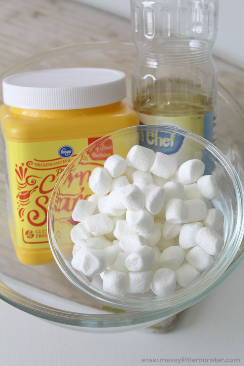 ingredients for marshmallow slime recipe