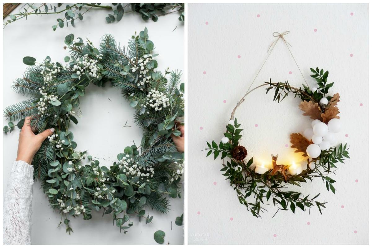 coronas de navidad para la puerta de casa