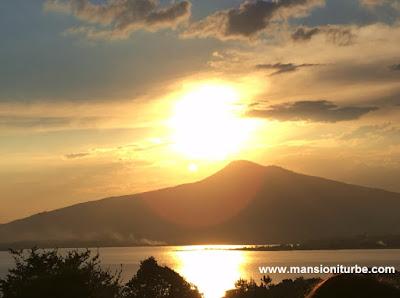 Sunset at Lake Patzcuaro in Michoacán