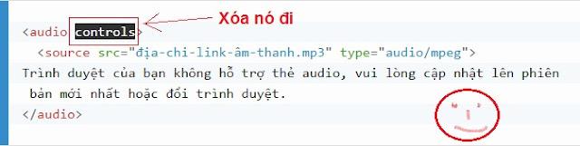 Chèn trực tiếp nhạc vào blogspot với HTML5