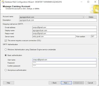 Konfigurasi Database Mail Sql Server
