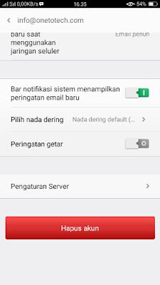 Cara mengatasi eror 421 untuk email dengan domain sendiri di android