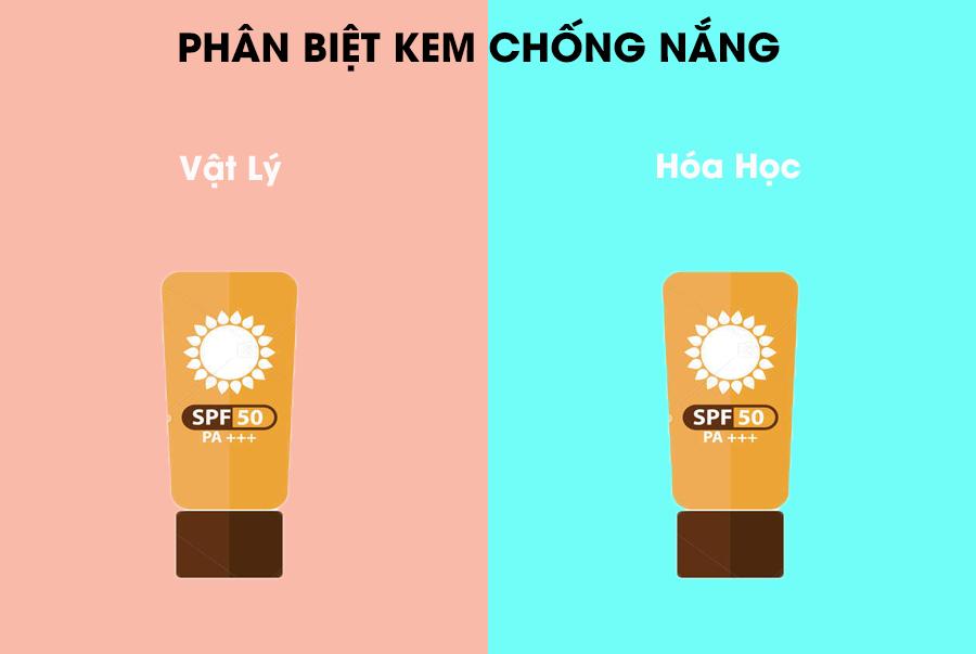 Cùng phân biệt kem chống nắng vật lý và kem chống nắng hóa học