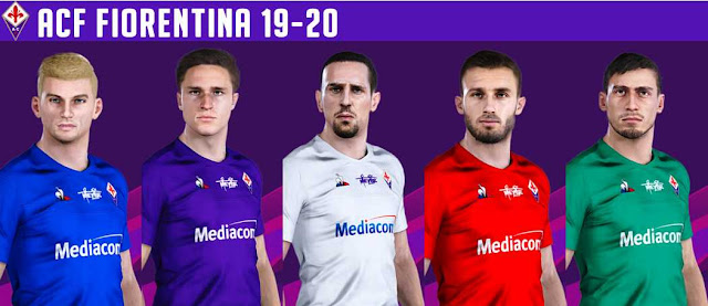 PES 2020 Fiorentina 19-20 Kits by VinVanDam13