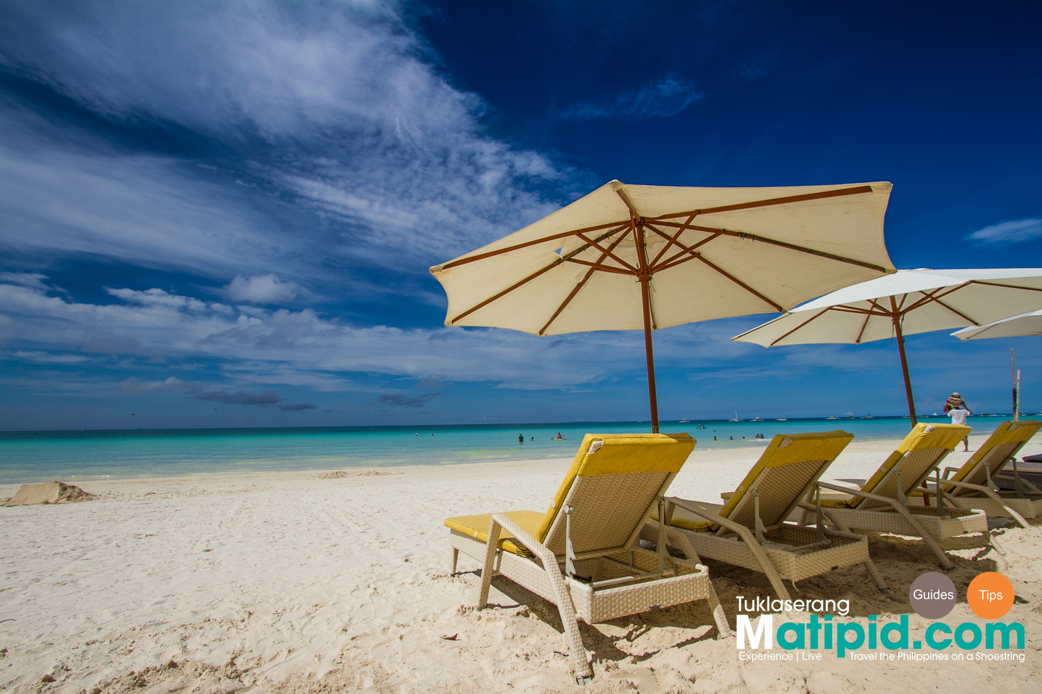 Empty Beach Parasols in Boracay