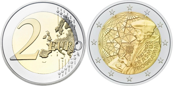 35th Anniversary of Erasmus 2 euro 2022 - Final design