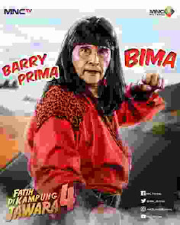 Aktor Laga Barry Prima Di Fatih di Kampung Jawara