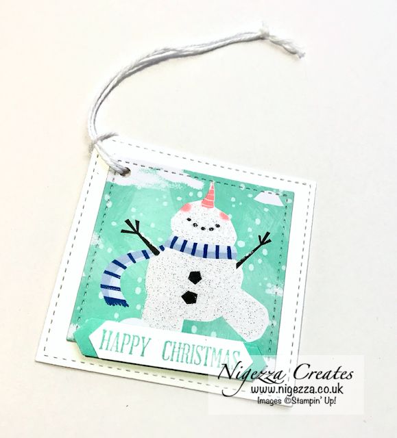 Nigezza Creates With Stampin Up!  Let is Snow DSP Quick Tags