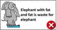 Elephant with fat in Lean Manufacturing