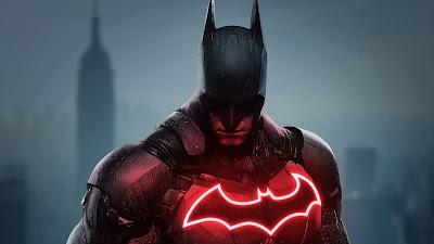 Papel de Parede Batman Logo de Neon