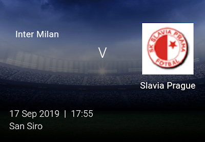 LIVE MATCH: Inter Milan Vs Slavia Prague UEFA Champions League 17/09/2019