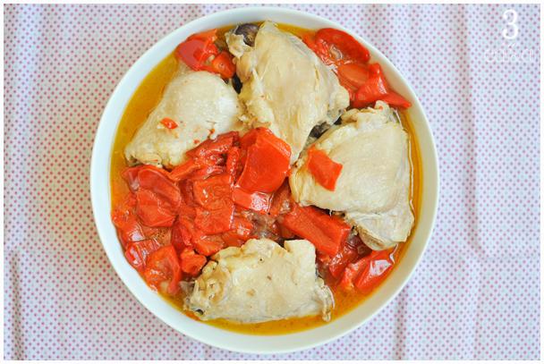 como fazer frango pimentão