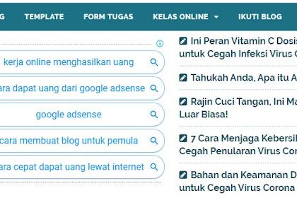 Cara Mudah Membuat Iklan Link Google Adsense Responsive Menjadi Lima Baris atau Sepuluh Tombol
