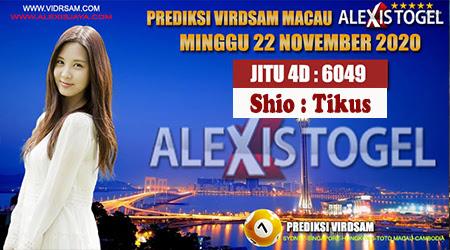 Prediksi Virdsam Togel Macau Minggu 22 November 2020