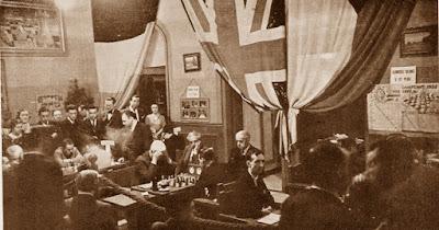 Sala de juego del Torneo Internacional de Ajedrez Barcelona-1935