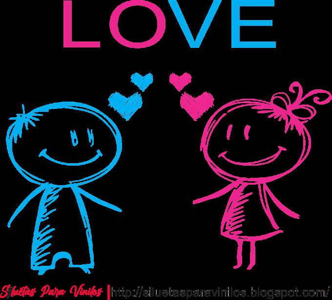 Descargar vector Pareja Dibujo Lápiz Love