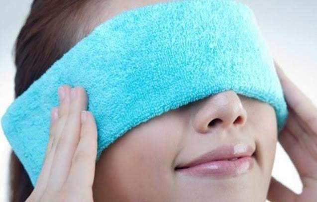 Sức nóng của nhiệt có thể làm giảm vết máu bầm ở mắt