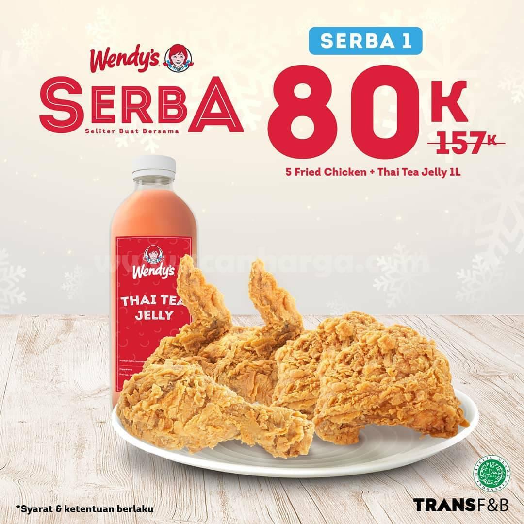 WENDYS Promo Paket SERBA harga spesial Rp 80.000
