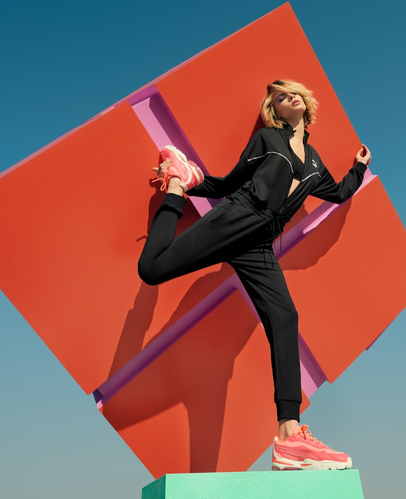 Model Cara Delevingne fronts PUMA Cell Stellar Neon sneaker campaign