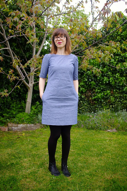 Chambray Laurel Dress