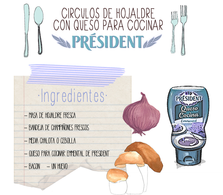 Hojaldre queso cocina President