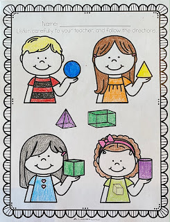 Geometric solids worksheet
