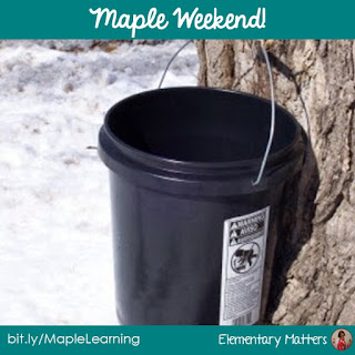 Maple Weekend: Facts, videos, and books to help children learn about how Maple Syrup is made!