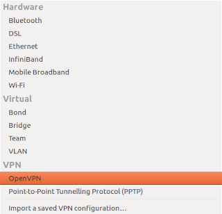 OpenVPN appears in network manager after installing selected packages