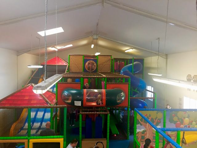 A medium size indoor soft play frame at Ashlyns