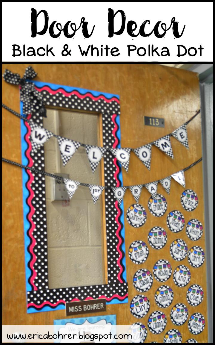 Classroom Decor Black And White : Black and white polka dot classroom decor ideas erica s