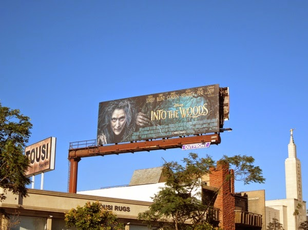 Disney Into the Woods film billboard