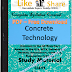 Concrete Technology PDF Study Materials cum Notes, Engineering Civil E-Books Free Download