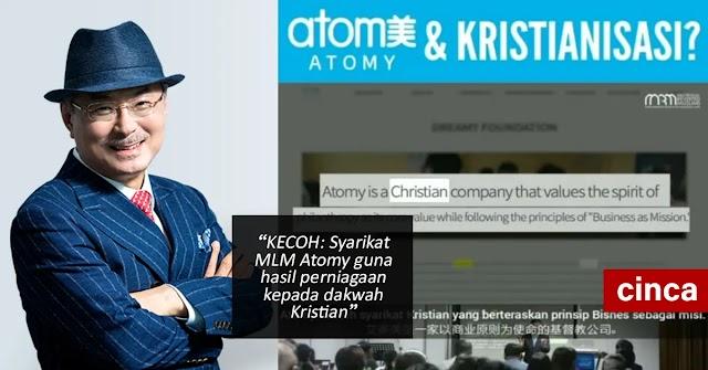 KECOH: Syarikat MLM Atomy guna hasil perniagaan kepada dakwah Kristian