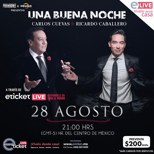 Carlos Cuevas presentará un nuevo evento via streaming junto a Ricardo Caballero