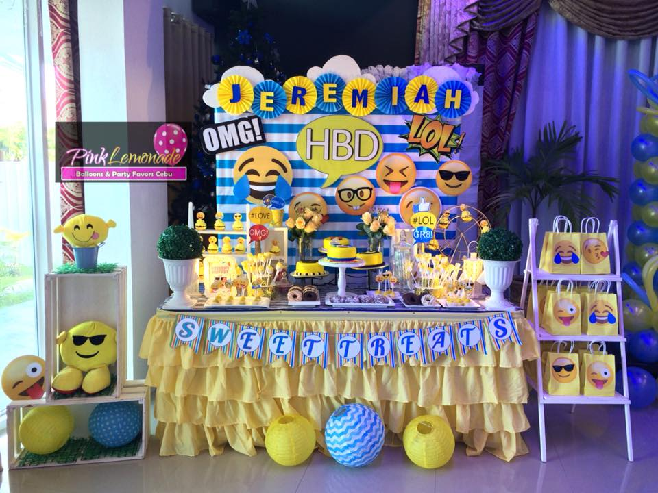 Emoji Dessert Buffet Set Up