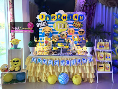 Emoji Dessert Buffet set-up