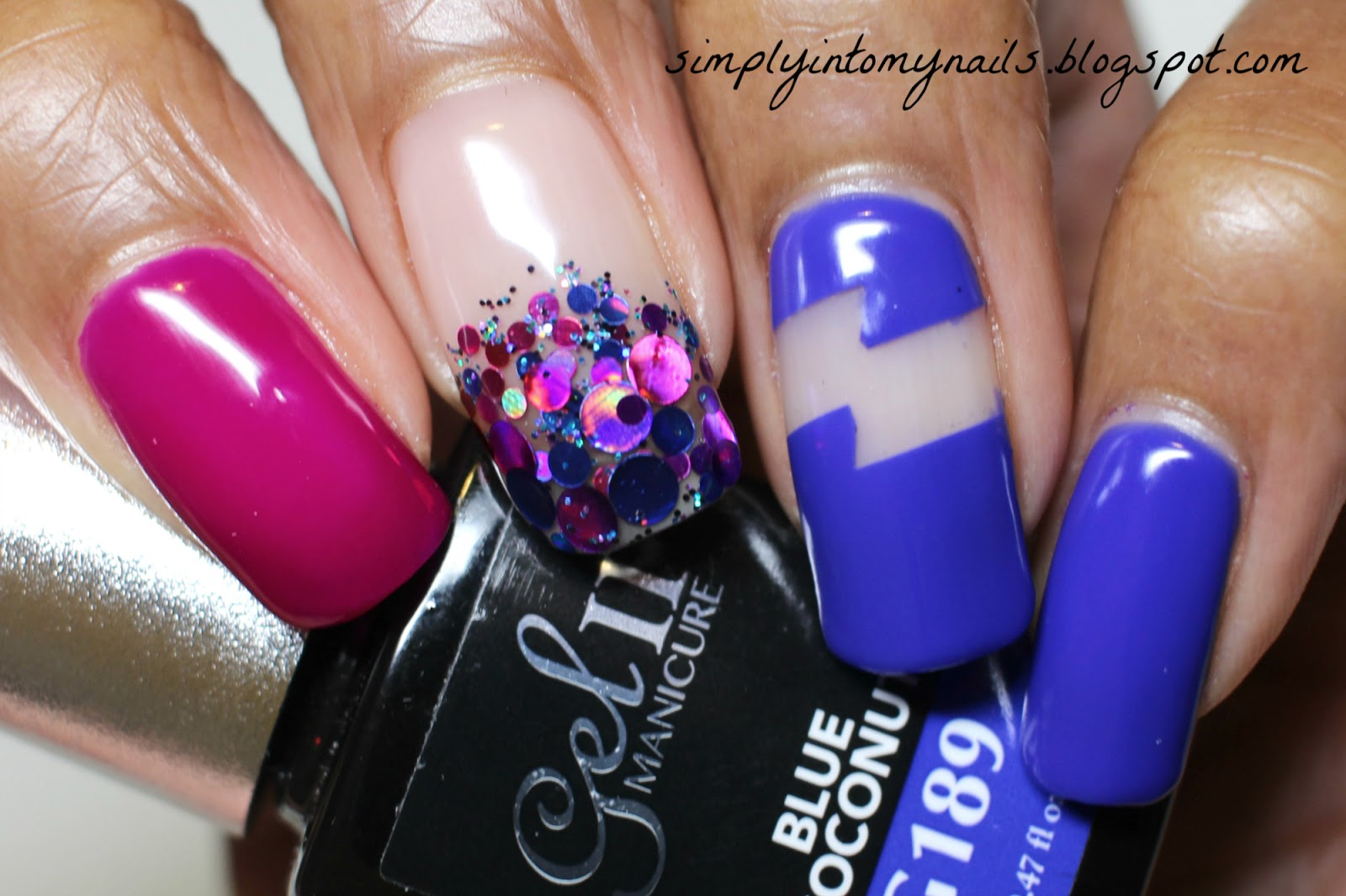 Gel II & GlitterArty Nails Manicure | Simply Into My NAILS