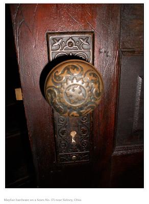 vintage door hardware sears mayfair brand