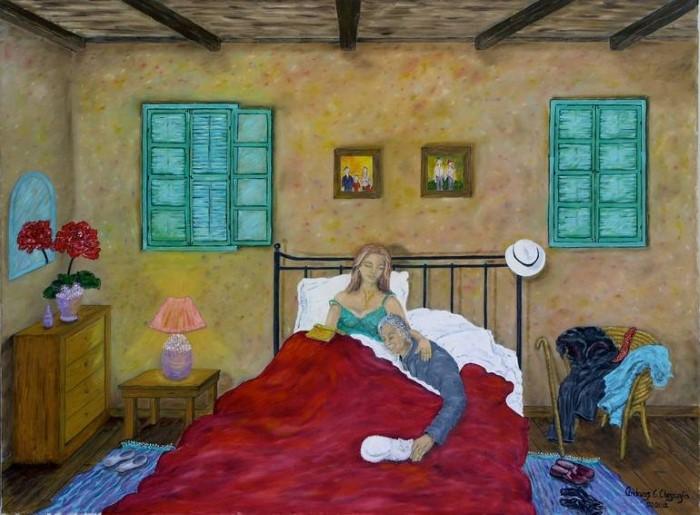 Яркие цветные рисунки в наивном стиле.
