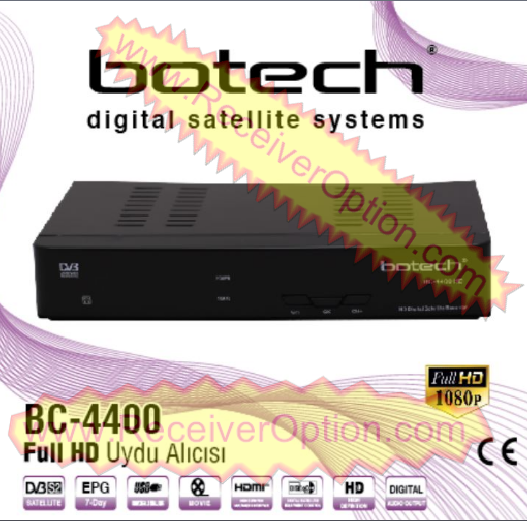 BOTECH BC-4400 HD RECEIVER FLASH FILE