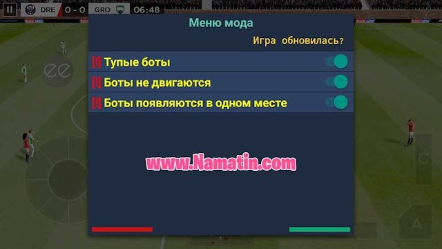 mod menu dream league soccer android