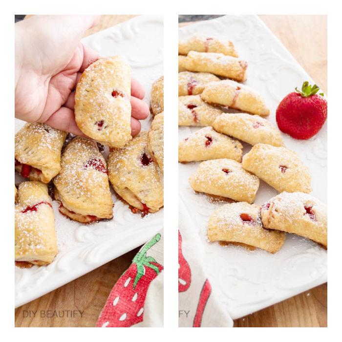 3 bite strawberry mini pies