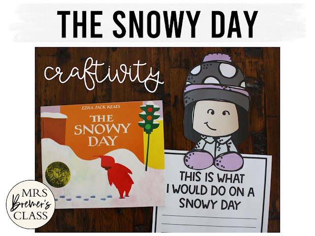 The Snowy Day book study activities unit with Common Core aligned literacy companion activities and a craftivity for Kindergarten and First Grade