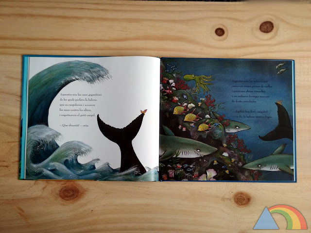 Interior del libro El caracol y la ballena de Julia Donaldson y Axel Scheffler